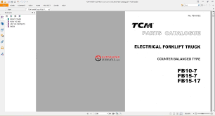 tcm forklift truck parts catalog auto repair manual forum