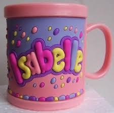 bicchieri di carta personalizzati childrens 3d personalised name plastic cup mug new isabelle