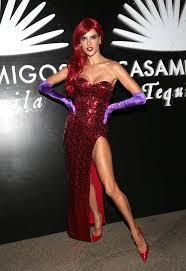 Halloween Costumes Jessica Rabbit Jessica Rabbit Alessandra Ambrosio U0027s Halloween Costumes
