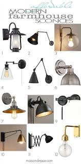 kitchen sconce lighting affordable modern farmhouse sconces swing arm wall ls