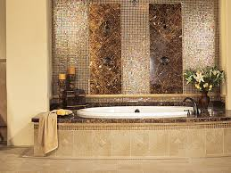interesting bathroom ideas brown cream cram white glass tile with