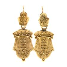 gold dangle earrings 1860s gold dangle earrings at 1stdibs
