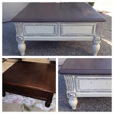 Refurbished End Tables by Chalk Painted Annie Sloan Coffee Table Refinished Pinterest