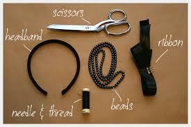 headband supplies beaded bow headband diy