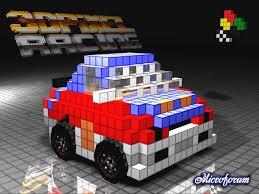 pixel car 3d pixel racing desktop wallpapers wiiware game race images