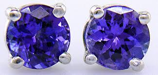 tanzanite stud earrings tanzanite platinum stud earrings bijoux extraordinaire