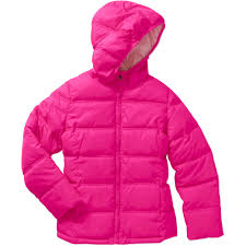 faded glory girls puffer bubble jacket walmart