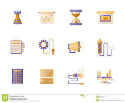 Promotion Color Business Planning Flat Color Icons Stock Illustration Image