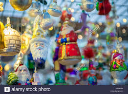 traditional glass ornaments at market bamberg germany