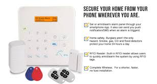 home security system sends sms push notification free app