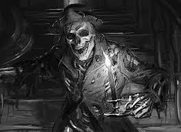 sketches manor skeleton magic the gathering