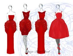latest designs of dresses sketches latest fashion style