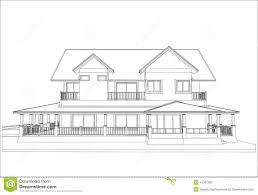 sketch design of house vector stock vector image 41952287