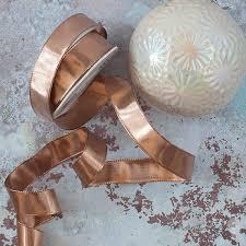 wire edged ribbon metallic gold wire edged ribbon 25mm 1 metre imagine diy