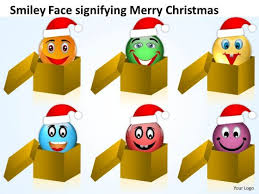 smiley face signifying merry christmas process flow chart