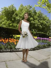 simple knee length wedding dresses simple knee length wedding dress for brides of one shoulder
