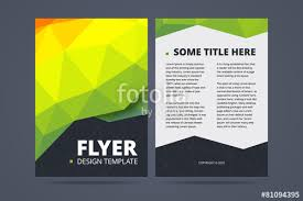 6 sided brochure template two sided flyer brochure design template stock image and