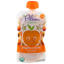 Colors Orange Plum Organics Tots Mighty Colors Orange Peach Papaya Carrot