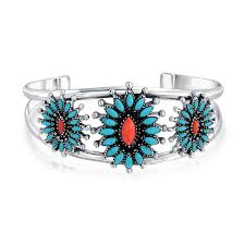 bracelet silver turquoise images 925 sterling silver split shank cuff bracelet with synthetic jpg