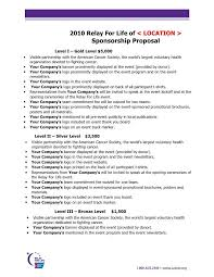 sponsorship proposal package sample sponsorship proposal template