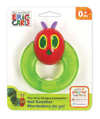 eric carle invitations eric carle the very hungry caterpillar gel teether walmart com