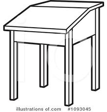 White Art Desk Desk Clipart 1093045 Illustration By Lal Perera
