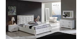 Bed Sets White Coco Modern Bedroom Set In White Leather By Dupen Spain