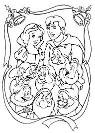 kids 7 snow white dwarfs coloring pages