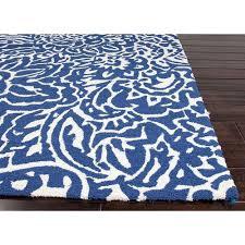 Modern Blue Rugs Designer Patio Spaces Shop Lina Indigo Blue Outdoor Rug