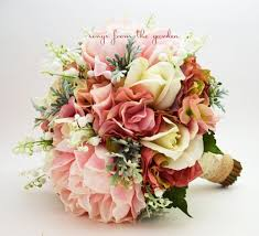 of the valley bouquet rustic bridal bouquet of the valley peonies roses