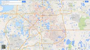 Florida Map Orlando by Orlando Florida Map