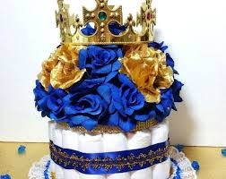 royal prince baby shower theme cake centerpiece with crown for royal prince baby shower