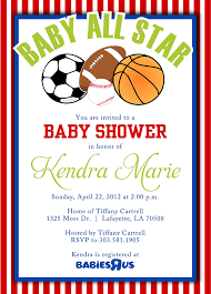 sport themed baby shower sports themed baby shower invitation templates cloudinvitation
