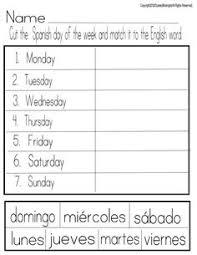 printable kindergarten worksheets printable spanish worksheet