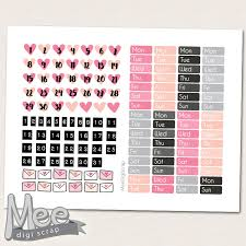 printable stickers valentines hello love pink date cover planner stickers printable valentine day