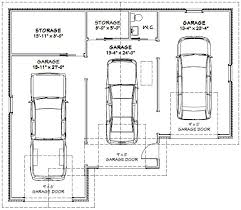 size of a three car garage three car garage plan google search garage pinterest garage