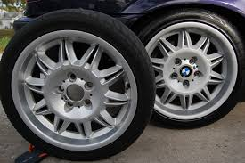 pics of wheel repaint using wurth silver wheel paint bmw m3