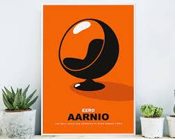 Modern Ball Chair Eero Aarnio Etsy