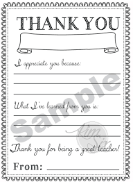 appreciation day printable thank you notes the six fix