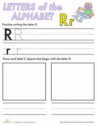 alphabet practice r worksheet education com