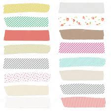 washi tape on isolated white background cute washi tape u2014 stock