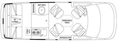 class b rv floor plans airstream avenue van arbogast van depot