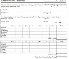 Employee Payroll Sheet Template 6 Free Timesheet Templates For Tracking Employee Hours