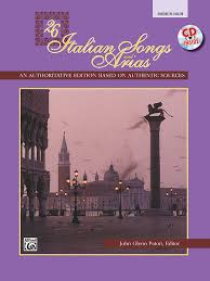26 italian songs and arias medium high voice book cd sheet
