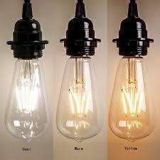 amazon com homestia led clear st64 4w 220v cool lighting filament