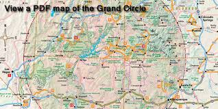 the grand circle is located in the sw us portions of az nm co