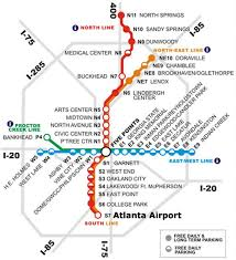 light rail w line marta map marta guide