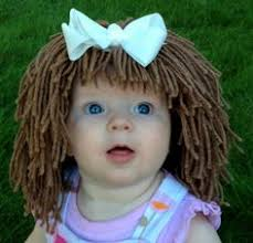 Homemade Cabbage Patch Kid Halloween Costume Kids Hat Beanie Wig Children Toddler Pageant Costume Cabbage