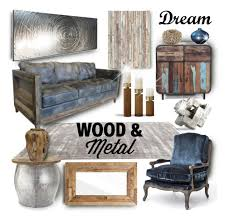 maison home interiors wood metal by liked on polyvore featuring