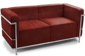 canapé le corbusier lc3 canapé cuir bordeaux 2 places inspiré lc3 le corbusier